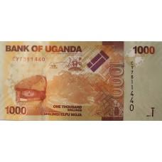 Уганда 1000 шиллингов 2013 UNC пресс.