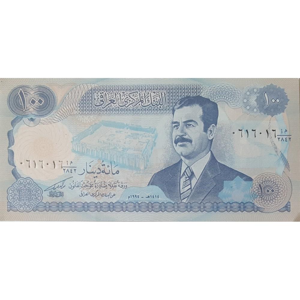 Ирак.100 динар.2003.UNC пресс.