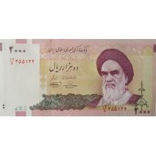 Иран 2000 риалов 1992-2011UNC пресс