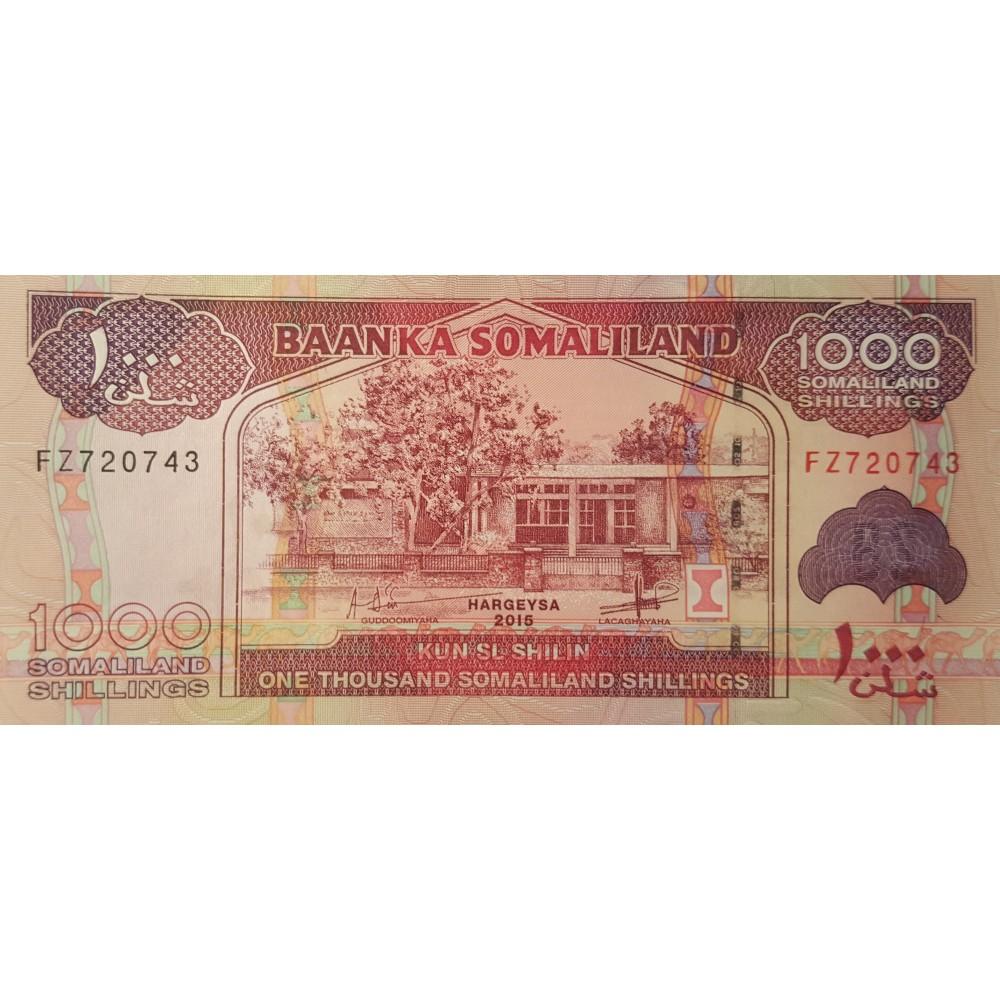 Сомали Ленд.1000 шилингов.2015 UNC пресс.