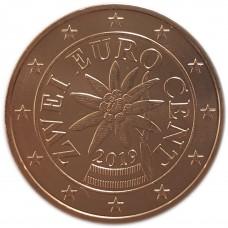 2 евро цента Австрия 2019 UNC