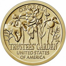 1 доллар 2019 Американские инновации №5 - Джорджия, Сад попечителей