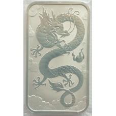 1 доллар 2019 года -  Год Дракона - Серебро