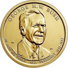 1 доллар США 2020 год - Джордж Буш - 41-й Президент США