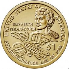 1 доллар 2020 Элизабет Ператрович - Индианка, САКАГАВЕЯ