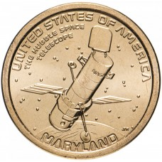 1 доллар 2020 Американские инновации №8 - Космический телескоп Хаббл (Мэриленд)