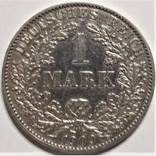 1 марка 1909 года. Серебро 900