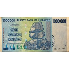Зимбабве 1 000 000 (1 миллион) долларов 2008 XF