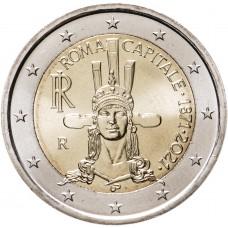 2 Евро 2021 Италия, 150 лет объявления Рима столицей Италии