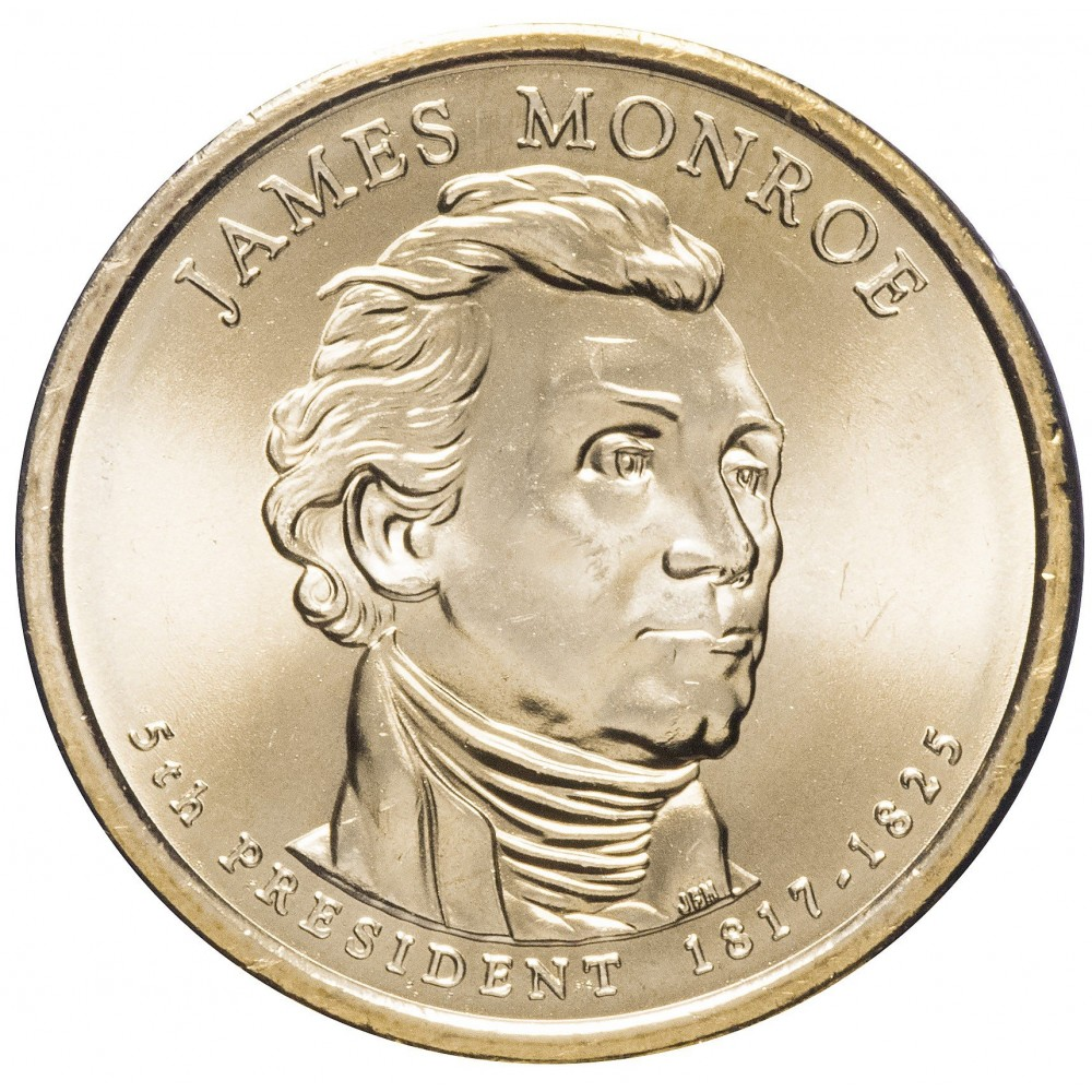 1 доллар 2008, Джеймс Монро, 5-й Президент США