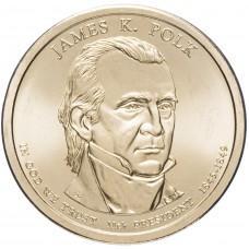 1 доллар 2009 Джеймс Нокс Полк , 11-й Президент США
