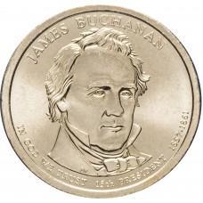 1 доллар 2010, Джеймс Бьюкенен, 15-й Президент США