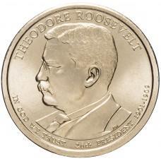 1 доллар 2013 Теодор Рузвельт , 26-й Президент США