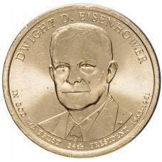 1 доллар 2015 Дуайт Эйзенхауэр , 34-й Президент США