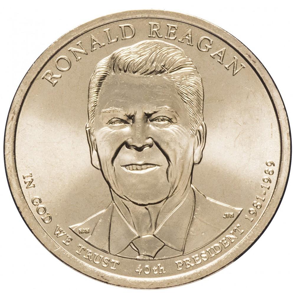 1 доллар 2016, Рональд Рейган , 40-й Президент США