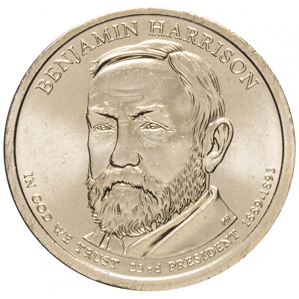 1 доллар 2012 Бенджамин Гаррисон , 23-й Президент США