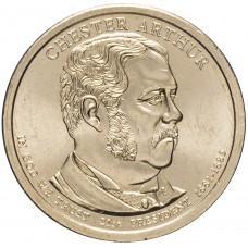 1 доллар 2012, Честер Артур, 21-й Президент США