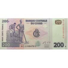 Конго 200 франков 2013 UNC пресс
