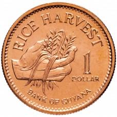 1 доллар Гайана 1996-2015