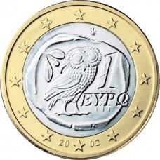 1 евро Греция  2002