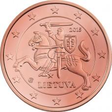1 евро цент Литва  2015 UNC