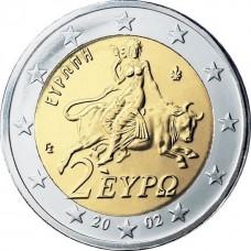 2 евро Греция 2002 года.