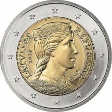 2 евро Латвия 2014 XF+/aUNC