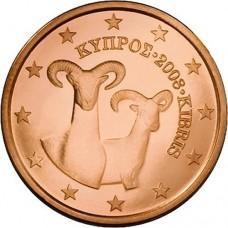 2 евро цента Кипр UNC