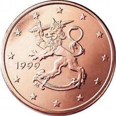 2 евро цента Финляндия, случайный год