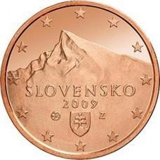 2 евро цента Словакия UNC