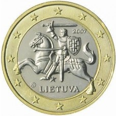1 евро Литва