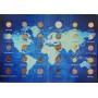 Набор 30 Стран в Альбоме - 30 монет UNC