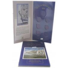 Альбом для монет 300 лет Российскому Флоту в альбоме 7 ячеек