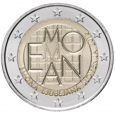 """2 евро 2015 Словения, """"2000 лет римскому поселению Эмона на месте современной Любляны"""" UNC"""