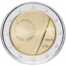 "2 Евро 2014 Финляндия, ""100 лет со дня рождения Илмари Тапиоваара"" UNC"