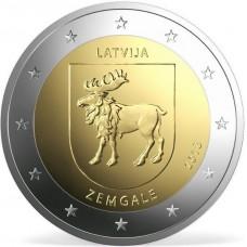 2 Евро 2018 Латвия UNC.Земгале