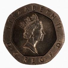 20 пенсов 1989-1996 Великобритания XF