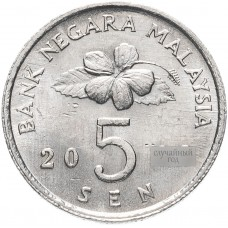 5 сен Малайзия 1989-2011