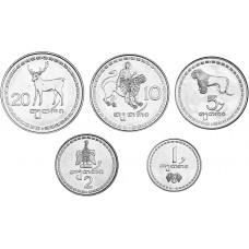 Набор из 5 монет Грузия 1993, Животные
