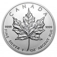 Канада 5 долларов 2017. Кленовый лист. Серебро.UNC