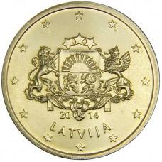 50 евро центов Латвия 2014 UNC