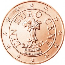 1 евро цент Австрия UNC