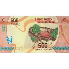 Мадагаскар. 500 ариари 2017 года.UNC пресс