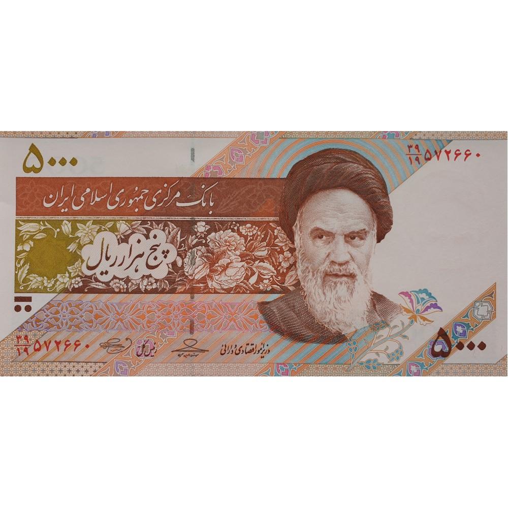Банкнота Иран 5000 риалов 2009 UNC пресс