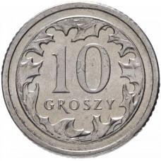10 грошей Польша 1990-2016