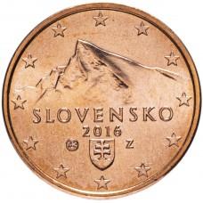 2 евроцента Словакия 2016 UNC