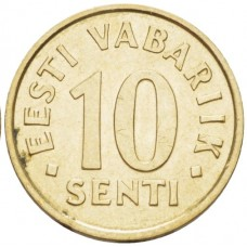 10 центов Эстония 2002