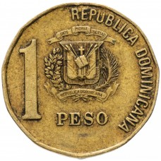 1 песо Доминикана 1991-2008