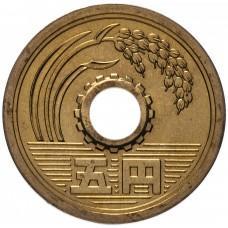 5 йен Япония 1989-2019