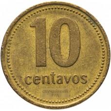 10 сентаво Аргентина 1992-2011